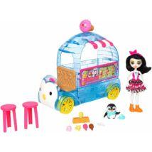 Enchantimals Preena Penguin baba és pingvines fagyizó játékszett