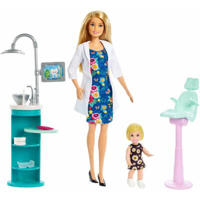 Barbie karrier játékszettek (fogorvos)