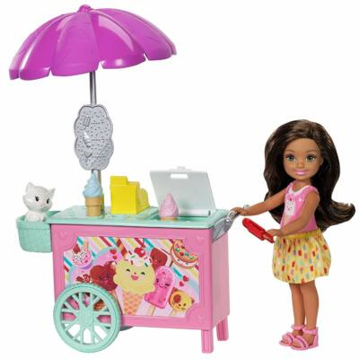 Barbie Chelsea kiegészítő szettek (fagylaltoskocsi)
