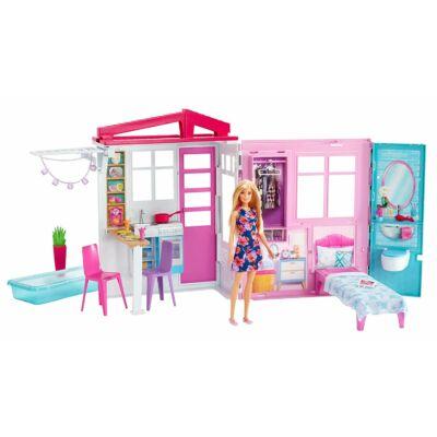Barbie tengerparti ház babával