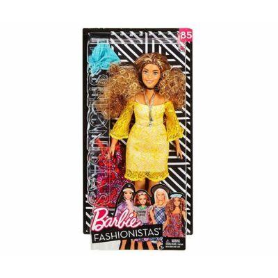 Barbie Fashionista baba ruhával (göndör hajú)