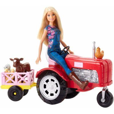 Barbie farmer baba traktorral és állatokkal
