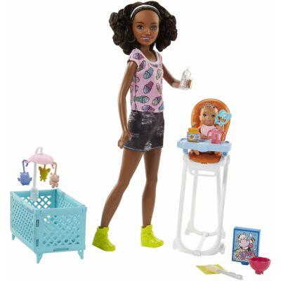 Barbie bébiszitter játékszett