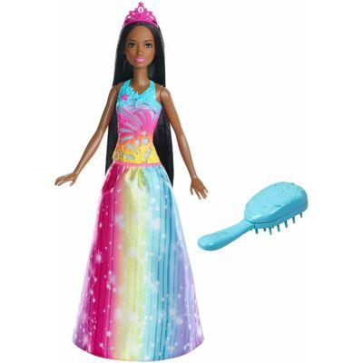 Barbie Dreamtopia - Afroamerikai hercegnő mágikus fésűvel
