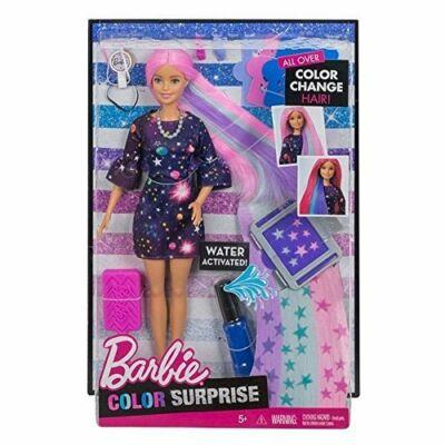 Barbie színvarázs hajszínező baba