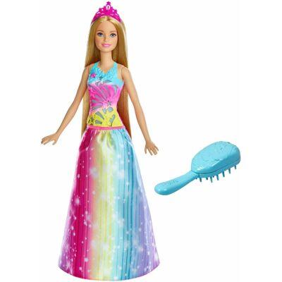 Barbie Dreamtopia hercegnő mágikus fésűvel
