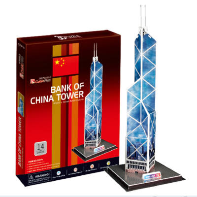 3D puzzle Bank of China Torony (14 db-os)