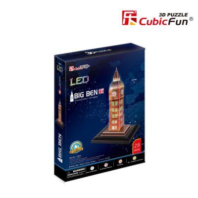 3D puzzle Big Ben LED világítással (28 db-os)