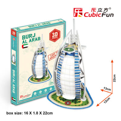 3D puzzle Burdzs al-Arab (17 db-os)