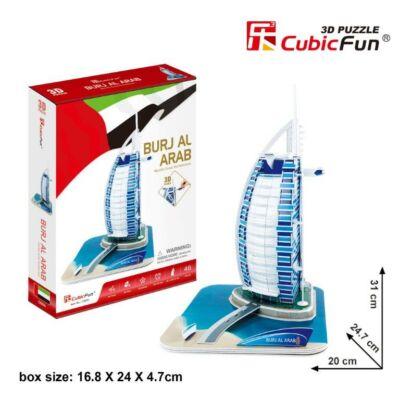3D puzzle Burdzs al-Arab (37 db-os)