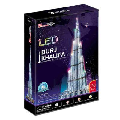 3D puzzle Burdzs Kalifa LED világítással (136 db-os)