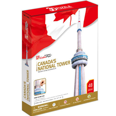3D puzzle CN Tower (48 db-os)