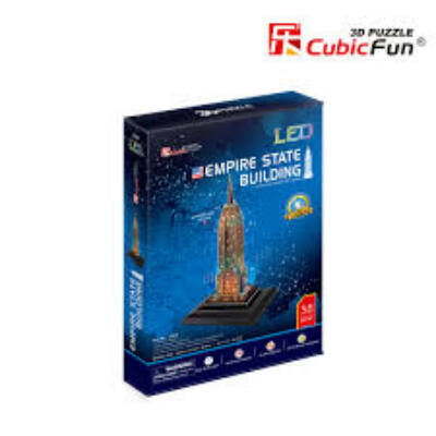 3D puzzle Empire State Building LED világítással (38 db-os)