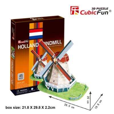 3D puzzle Holland szélmalom (45 db-os)