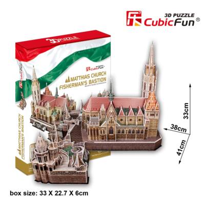 3D puzzle Mátyás templom és Halászbástya (176 db-os)