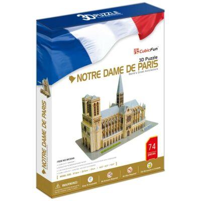 3D puzzle Notre Dame (74 db-os)