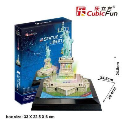3D puzzle Szabadság szobor LED világítással (37 db-os)