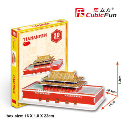 3D puzzle Tiananmen (23 db-os)