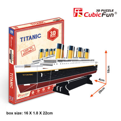 3D puzzle Titanic (30 db-os)