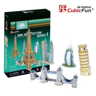 3D puzzle Világhírű épületek #1 (98 db-os)