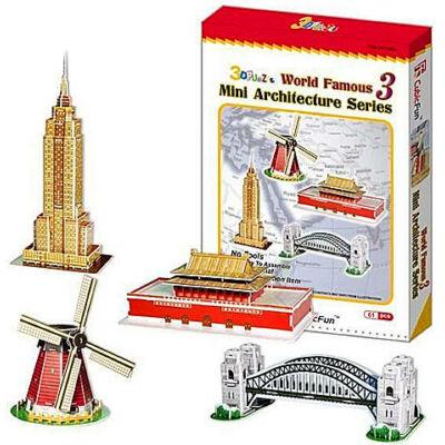 3D puzzle Világhírű épületek #3 (100 db-os)