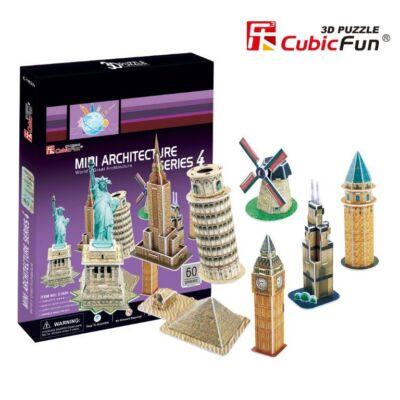3D puzzle Világhírű épületek #4 (59 db-os)