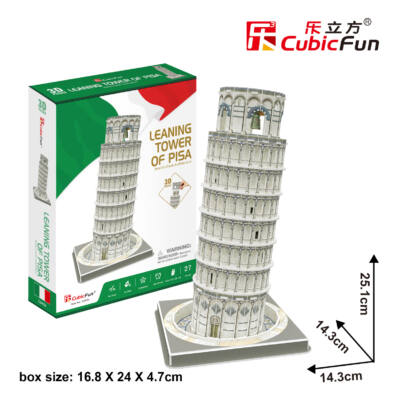 3D puzzle Pisai ferde torony (27 db-os)