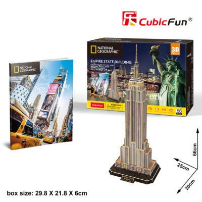 3D puzzle Empire State Building Nat. Geo. Fotóalbummal (66 db-os)
