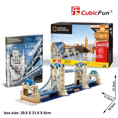 3D puzzle Tower Bridge Nat. Geo. Fotóalbummal (120 db-os)