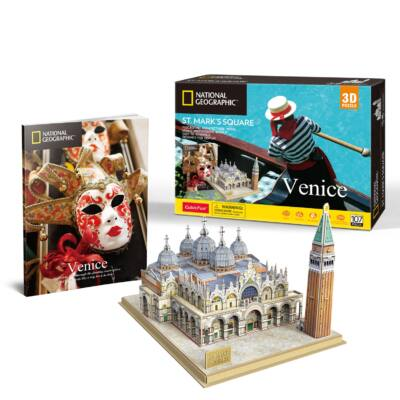 3D puzzle Velence Szent Márk tér Nat. Geo. Fotóalbummal (107 db-os)