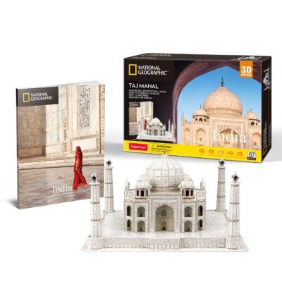 3D puzzle Tadzs Mahal Nat. Geo. Fotóalbummal (87 db-os)