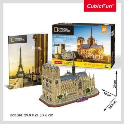 3D puzzle City Trav. Notre Dame (128 db-os)