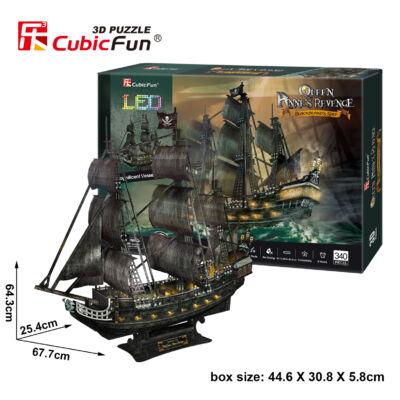 3D puzzle Queen Anne LED világítással (340 db-os)