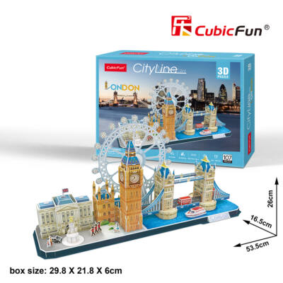 3D puzzle City Line London (107 db-os)