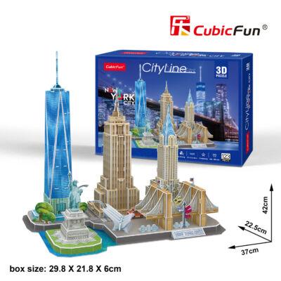 3D puzzle City Line New York (123 db-os)