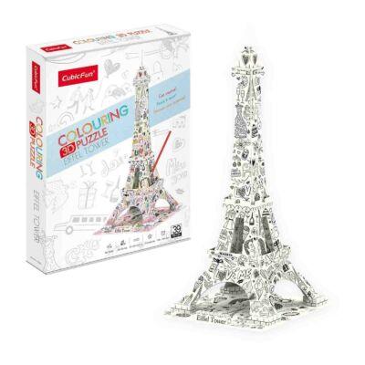 3D puzzle kiszínezhető Eiffel torony (39 db-os)