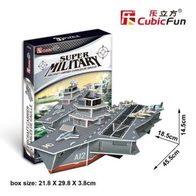 3D Puzzle - Charles de Gaulle repülőgéphordozó anyahajó