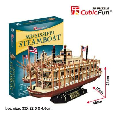3D puzzle Mississippi Steamboat (146 db-os)
