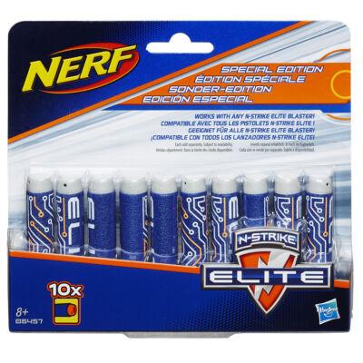 NERF Elite utántöltő (10 db, kék-szürke szivacslövedék)