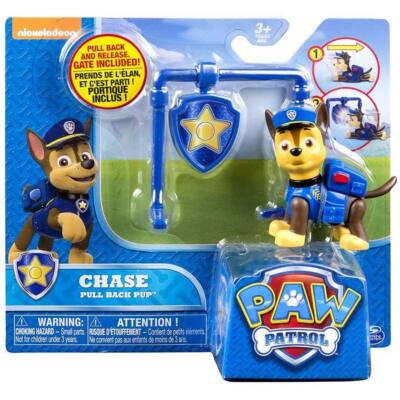 Mancs Őrjárat Action Pack figura jelvénnyel (Chase)