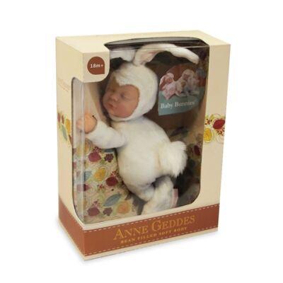 Anne Geddes babák - Fehér nyuszi 23 cm-es