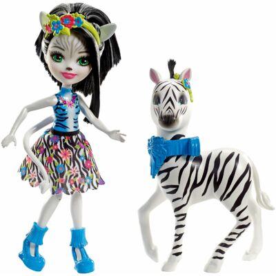 Enchantimals Zelena Zebra baba és Hoofette, a zebra