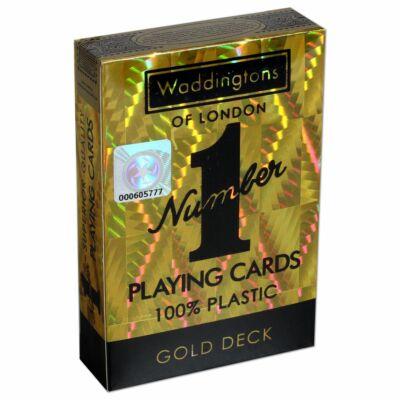 Arany színű, csillogó franciakártya