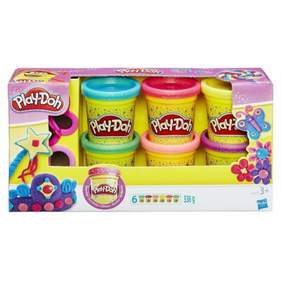 Play-Doh Csillámló Gyurma készlet